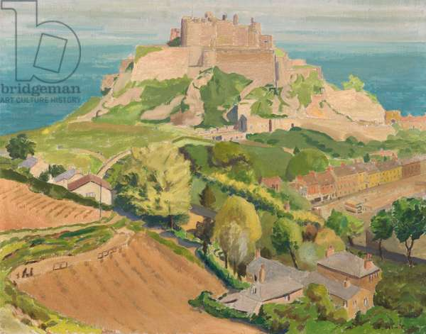 Mount Orgueil, Jersey (oil on canvas)