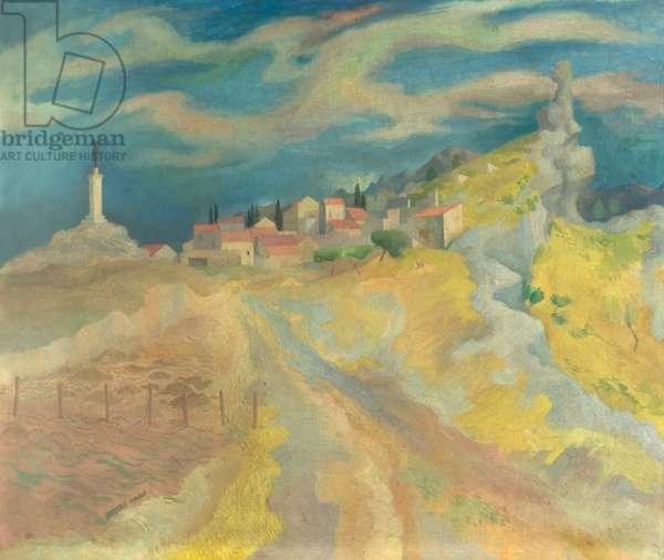 Châteauneuf, France, c.1946 (oil on canvas)