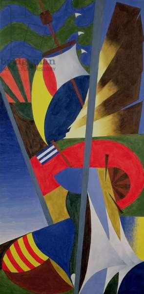 Sailing (acrylic on canvas)