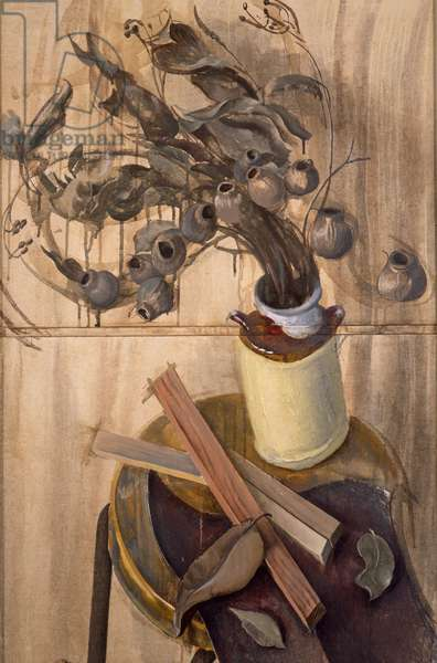 Still Life with Dry Branches, 1988 (tempera on canvas)