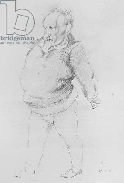 Portrait of William Golding (b.1911) 1965 (pencil)