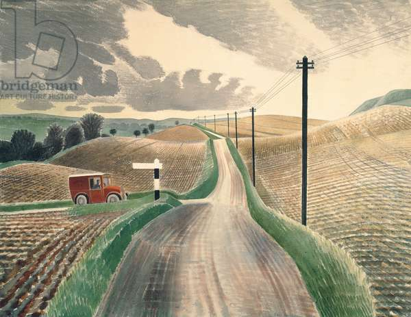 Wiltshire Landscape, 1937 (watercolour)