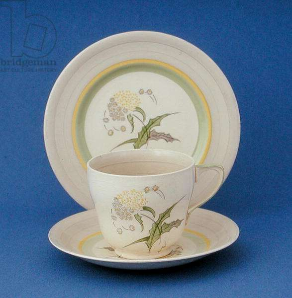 Trio in thistle design, 1930s