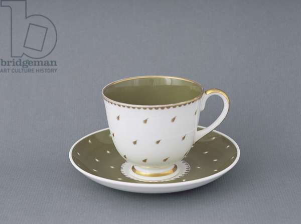 Cup and saucer, c.1954 (bone china)
