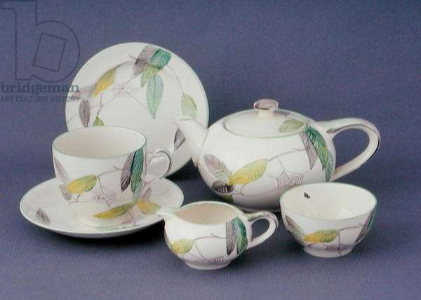 Teaset for one painted in pattern no. A1548, c.1930s