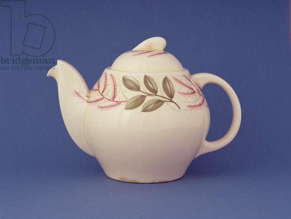 'Kestrel' teapot in 'Everlasting Life' design, 1952 (earthenware)