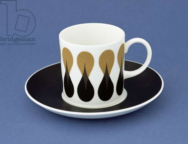 Coffee cup and saucer in 'Diablo' design, 1969 (bone china)