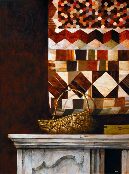 Hanging Quilt, 2006 (acrylic on canvas)