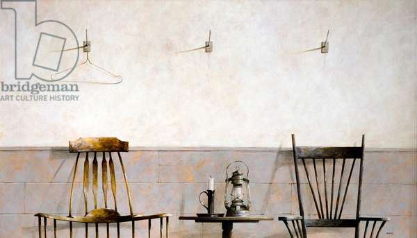 Candle and Lamp, 2008 (acrylic on board)
