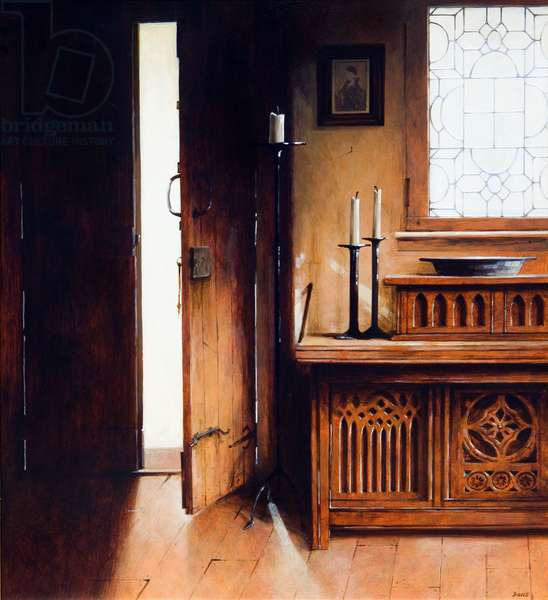 Carved Trunk, 2009 (acrylic on board)