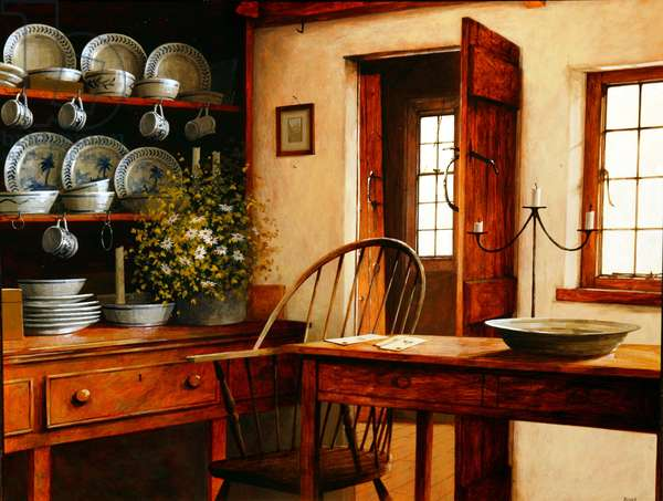 In the Kitchen, 2004 (acrylic on canvas)