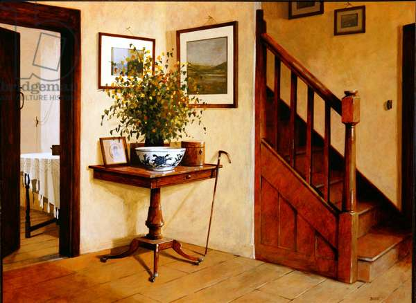 In the Hall, 2004 (acrylic on board)