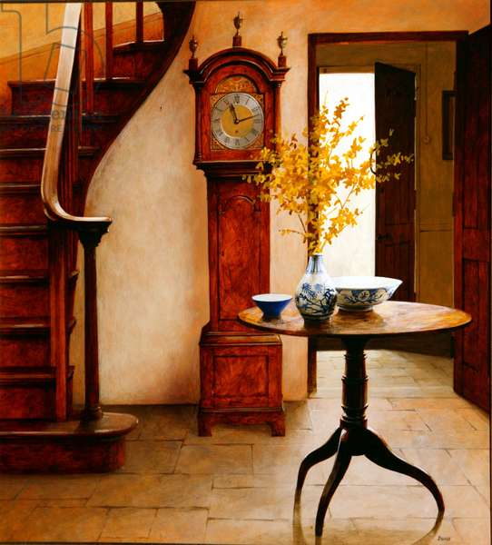 Table and Stairs, 2004 (acrylic on board)