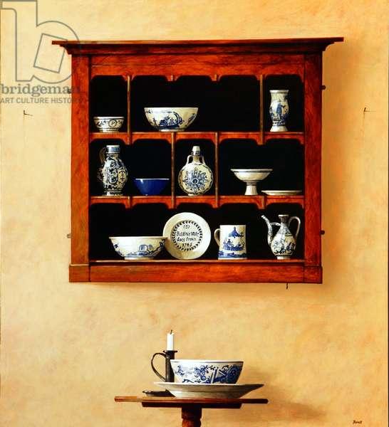 Blue Shelf, 2004 (acrylic on board)