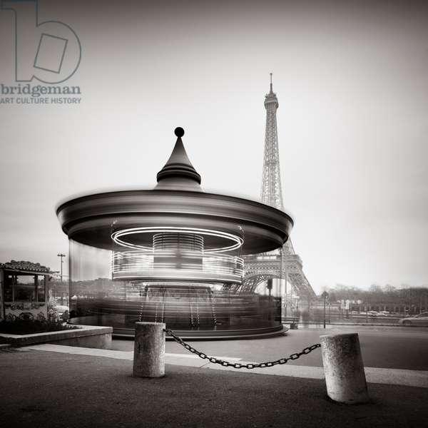Tour Eiffel - Study 2, Paris, France, 2013 (b/w photo)