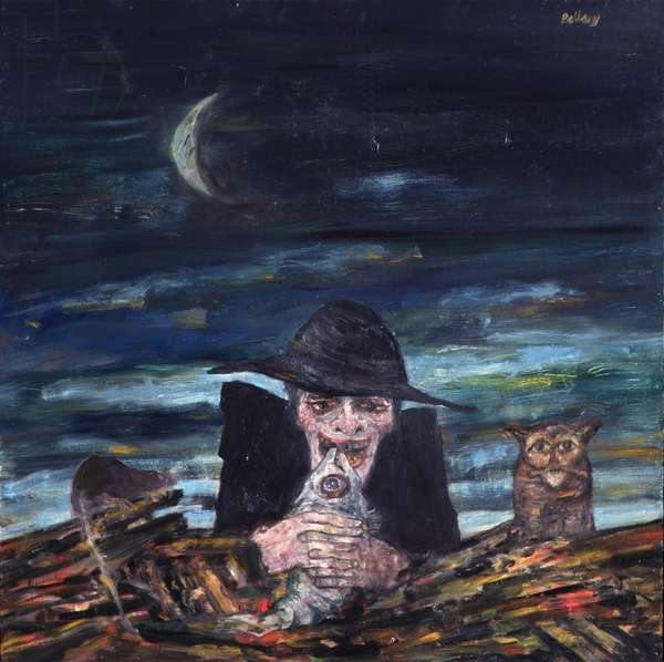 The Witch, 1968 (oil on board)