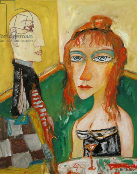 Girl with Yellow Background, 1998 (oil on canvas)