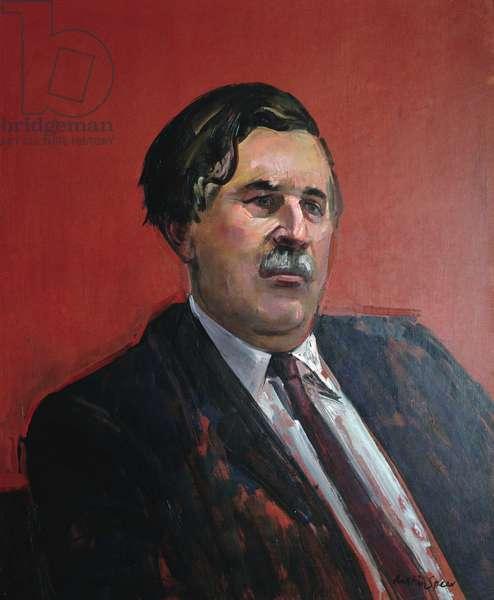 Portrait of John Moon, OBE (oil on board)