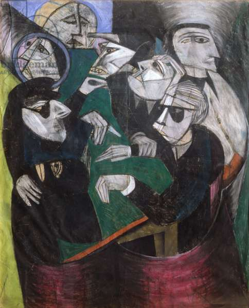 The Card Players, 1980 (oil on canvas)