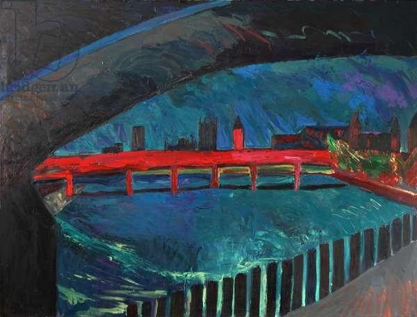London Bridges, 1982 (oil on canvas)