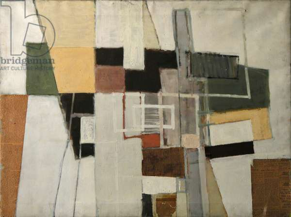 Untitled, 1956 (collage & oil on canvas)