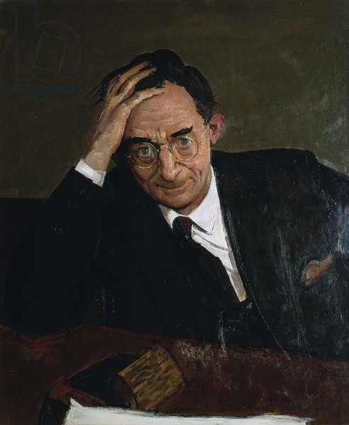 Portrait of David Pye, 1974 (oil on board)