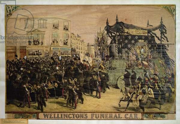 Wellington's Funeral Car, 1852 (colour litho)