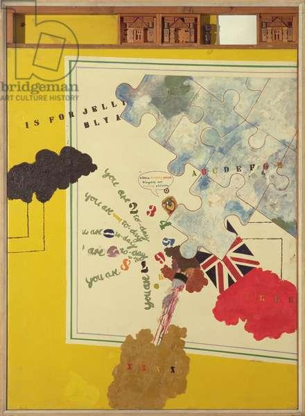 Birthday, 1962 (oil & mixed media on canvas)