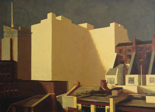 White Building, 1990 (oil on canvas)