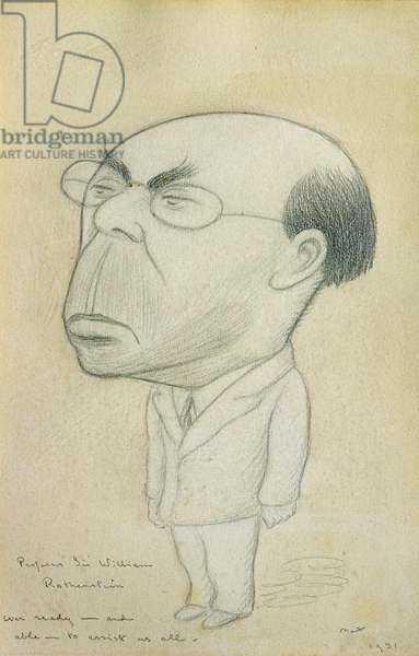 Professor Sir William Rothenstein, 1931 (pencil on paper)