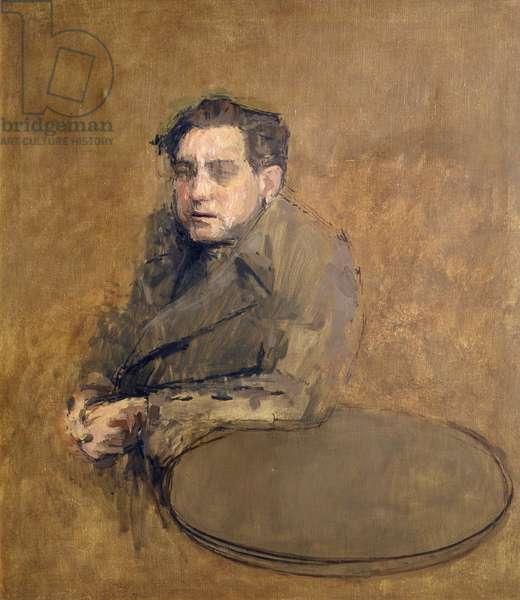 Portrait of Rodrigo Moynihan (oil on canvas)