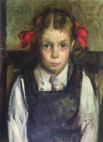 Portrait of a Young Girl, 1954 (oil on canvas)