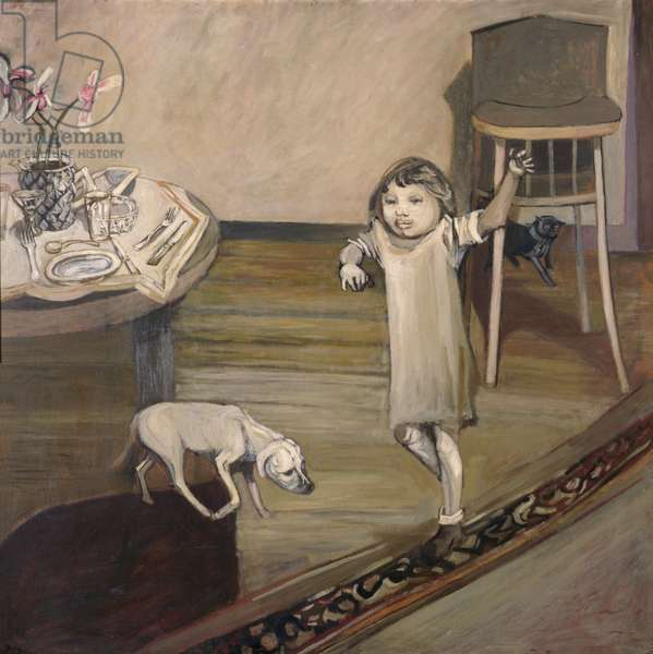 Interior with Child, 1953 (oil on hardboard)