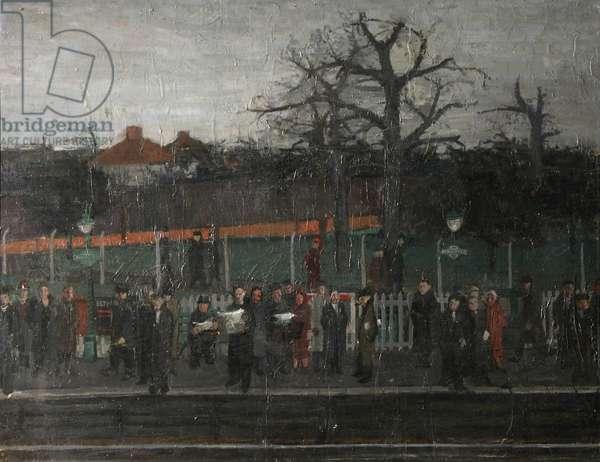 Kidbrook Station, 1954 (oil on board)