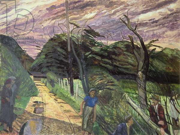 Country Lane, 1962 (oil on canvas)