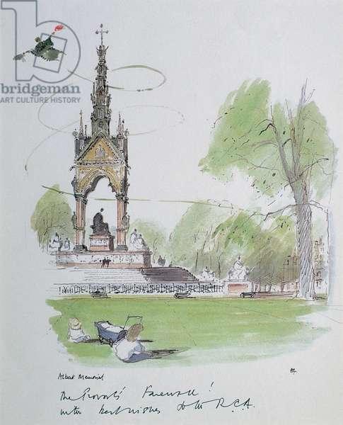 Albert Memorial (The Provost's Farewell), c.1950 (w/c on paper)