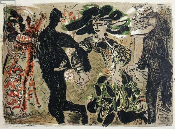 Couple Dancing, c.1953 (litho)