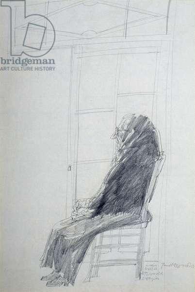 Portrait of Maria Bauza, 1963 (pencil on paper)