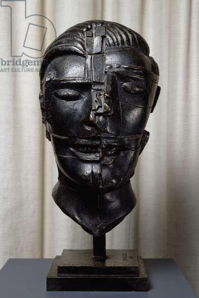 Head of a Man, 1986 (bronze)