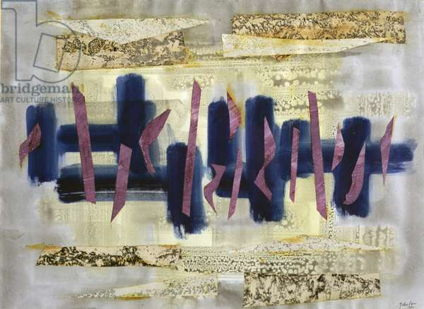 Abstract Composition, 1960 (w/c & collage on paper)