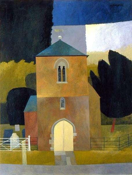 The Church, 1993 (oil on board)
