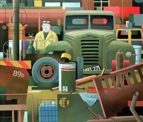 Scrap Merchant, 1983 (oil on canvas)