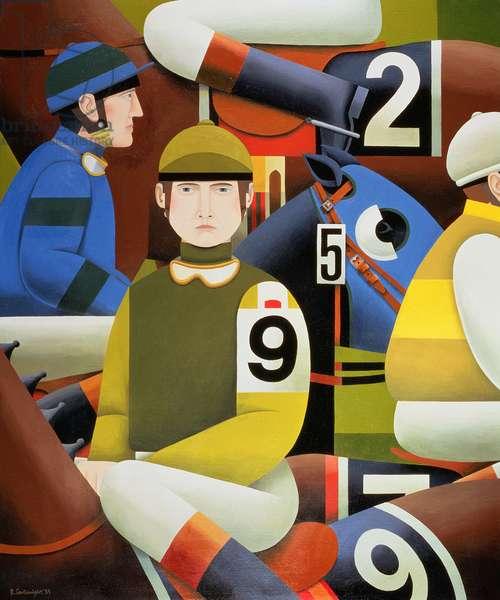 Jockeys, 1984 (oil on canvas)