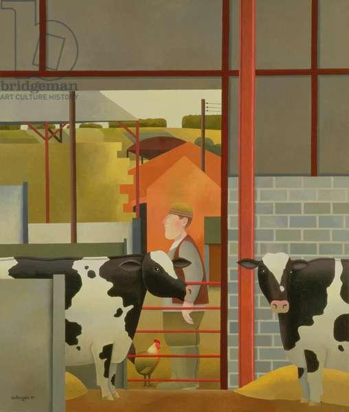 Farm Worker, 1994 (oil on canvas)