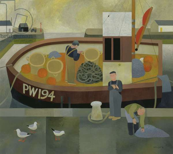 Padstow Harbour PW 194, 1996 (oil on board)