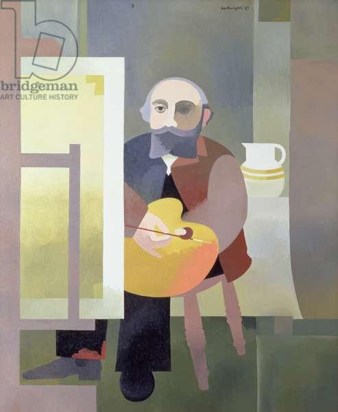 Homage de Douanier Rousseau, 1987 (oil on canvas)