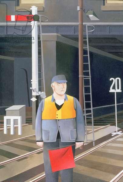 The Railwayman, 1982 (oil on canvas)