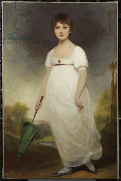 Portrait of Jane Austen, the 'Rice Portrait', 1788-89 (oil on canvas)