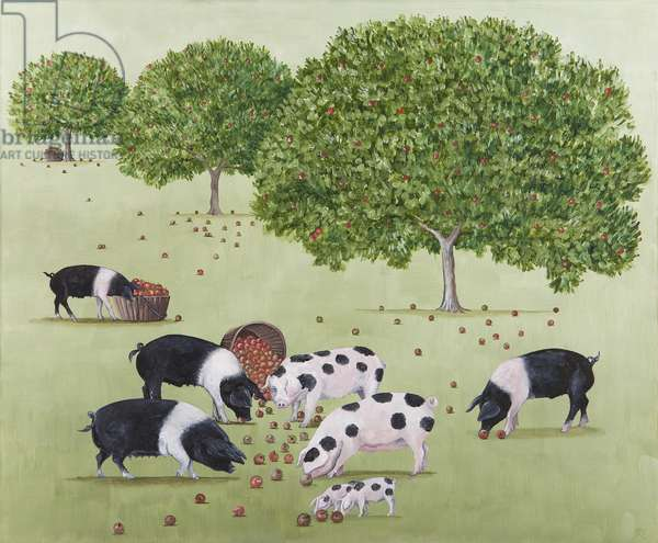 Upsetting the Apple Cart, 2011 (oil on linen)