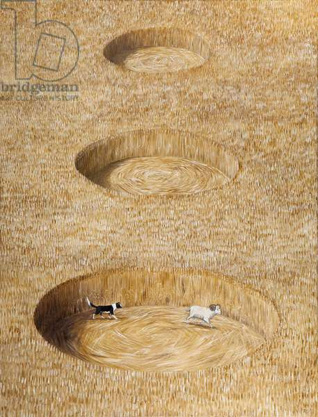 The Crop Circle Culprit, 2011 (oil on linen)